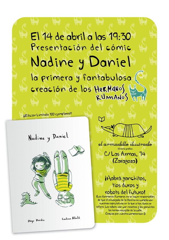 Nadine y Daniel se presenta el sábado 14 en El Armadillo Ilustrado