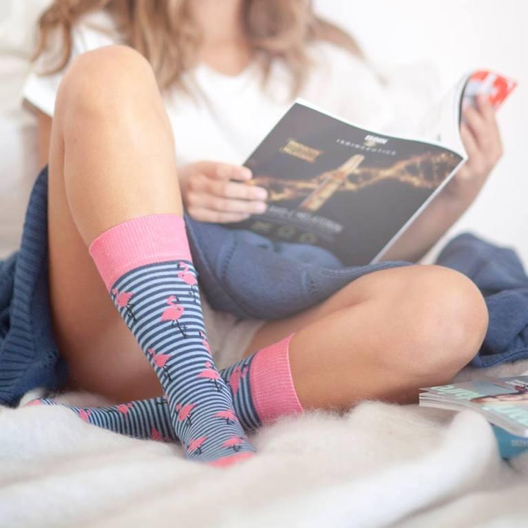 calcetines con flamencos