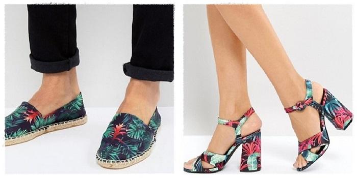 Zapatos con flores