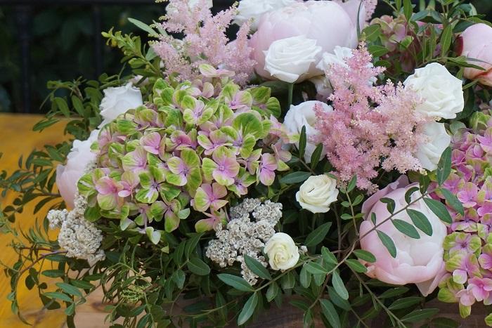 Hortensias y peonías